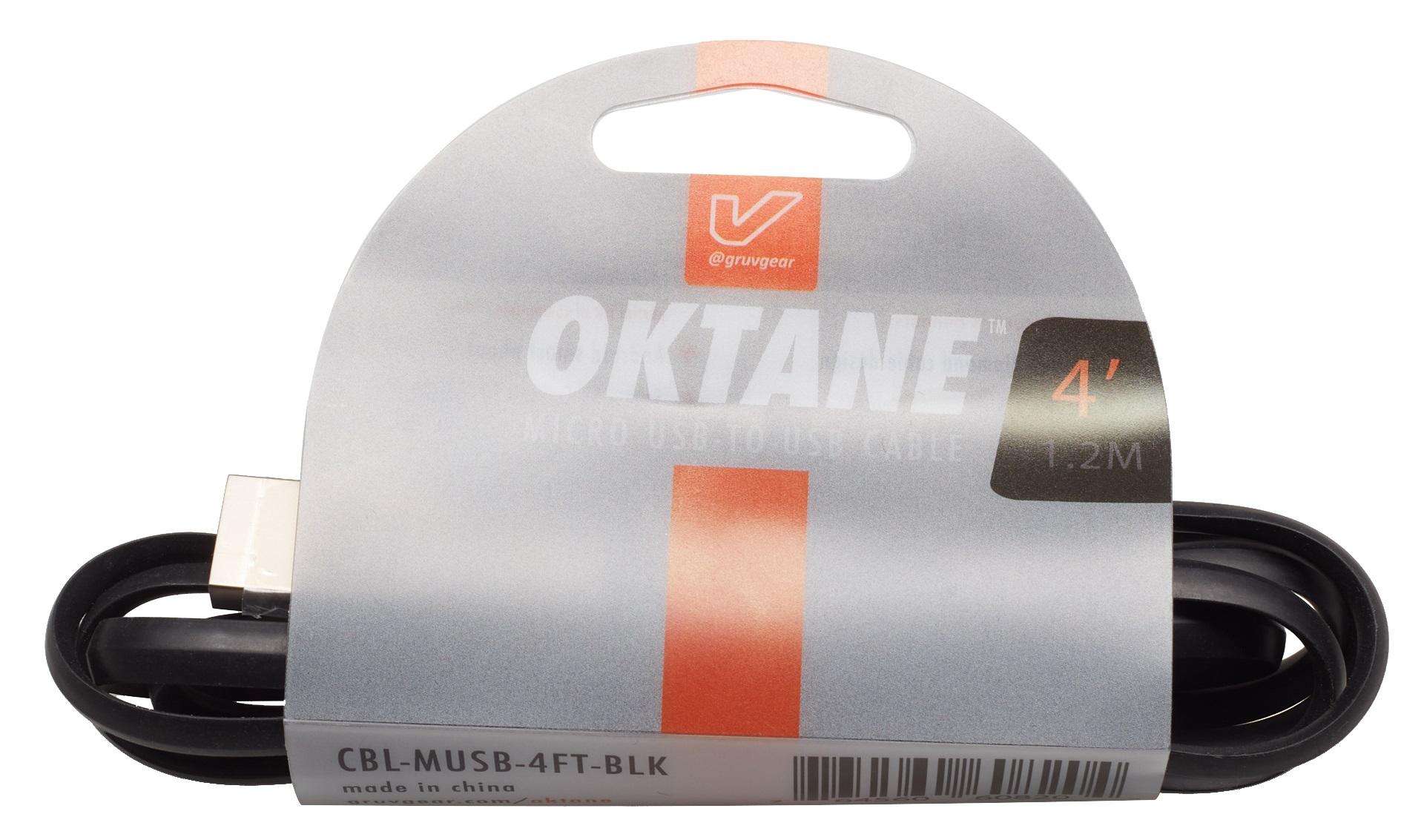 Gruvgear Oktane Charging Cable Micro USB 4'
