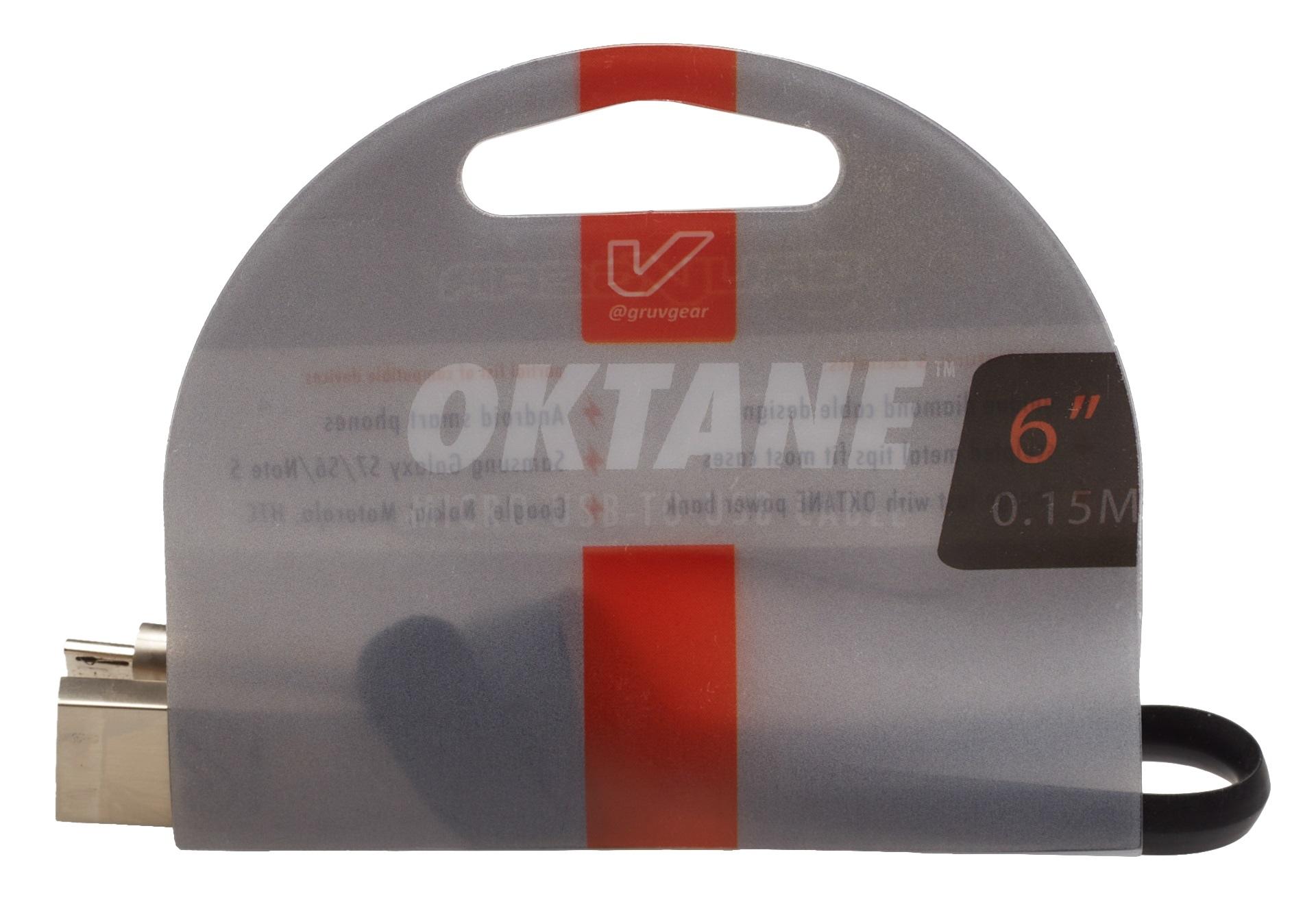 "Gruvgear Oktane Charging Cable Micro USB 6"""