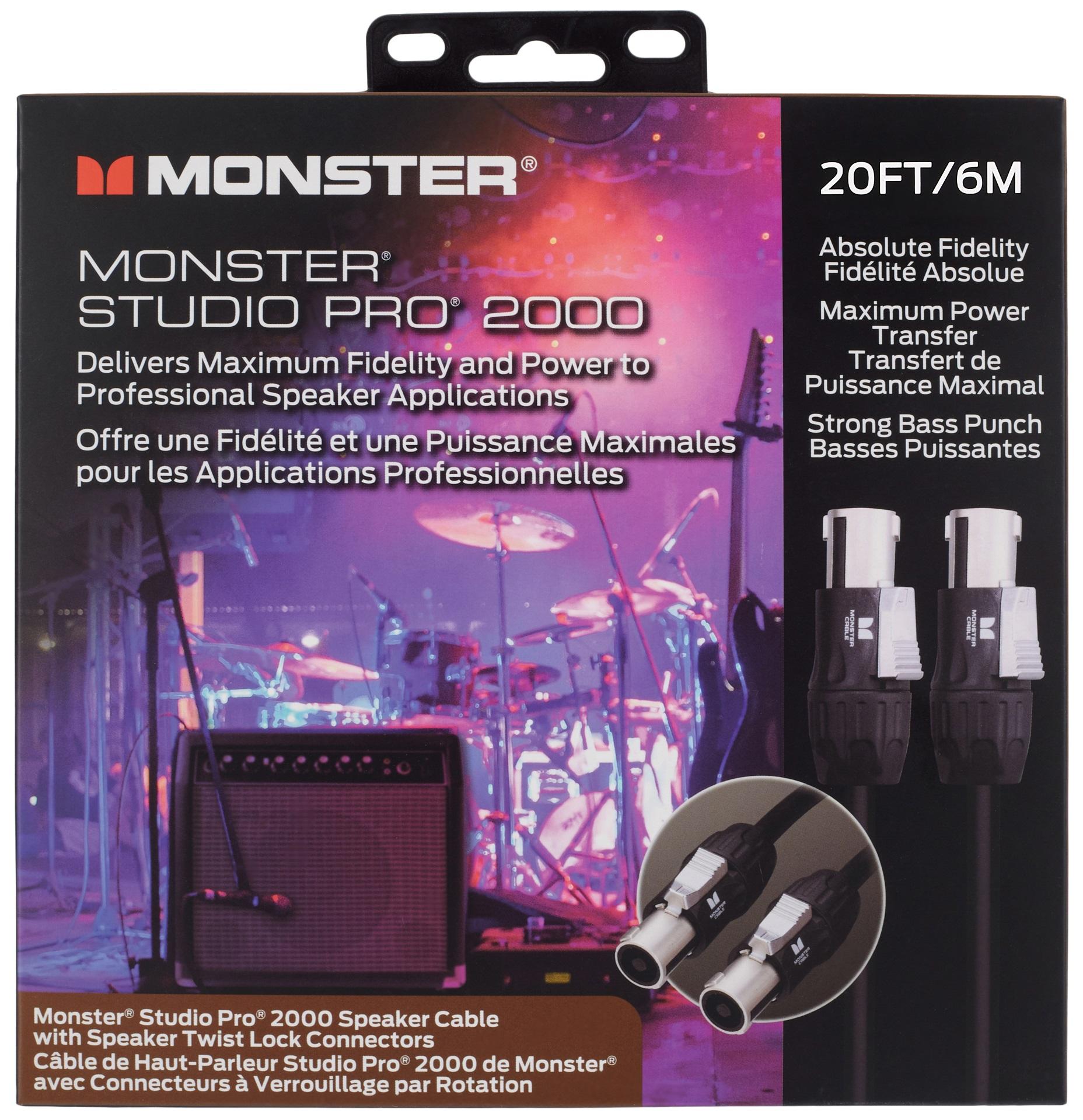 Monster Studio Pro 2000 20' Speaker Cable