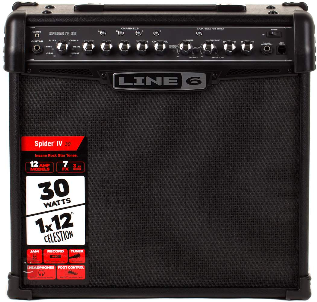 Line 6 spider iv 30 kytarov modelingov kombo for Yamaha thr5a v2