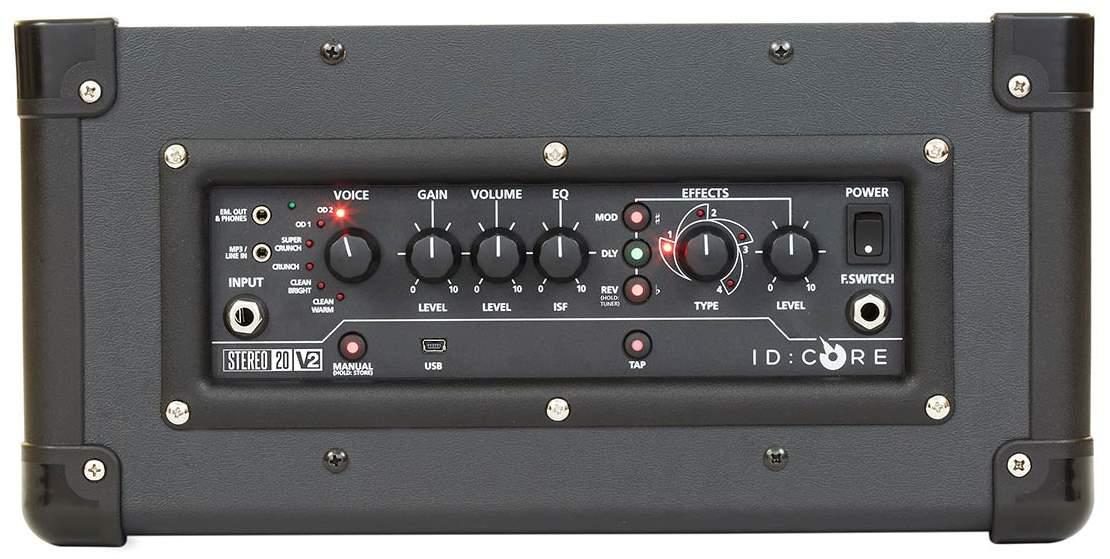 Panneau de contrôle du Blackstar IDC20 V2