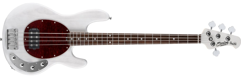 Sterling by Music Man RAY34 Tanslucent White Blonde