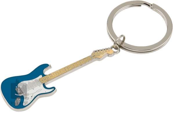 Fender stratocaster keychain blue portachiavi