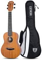 Blond ukulele koncertowe + pokrowiec Hérgét