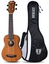 Blond ukulele soprano + husă Hérgét