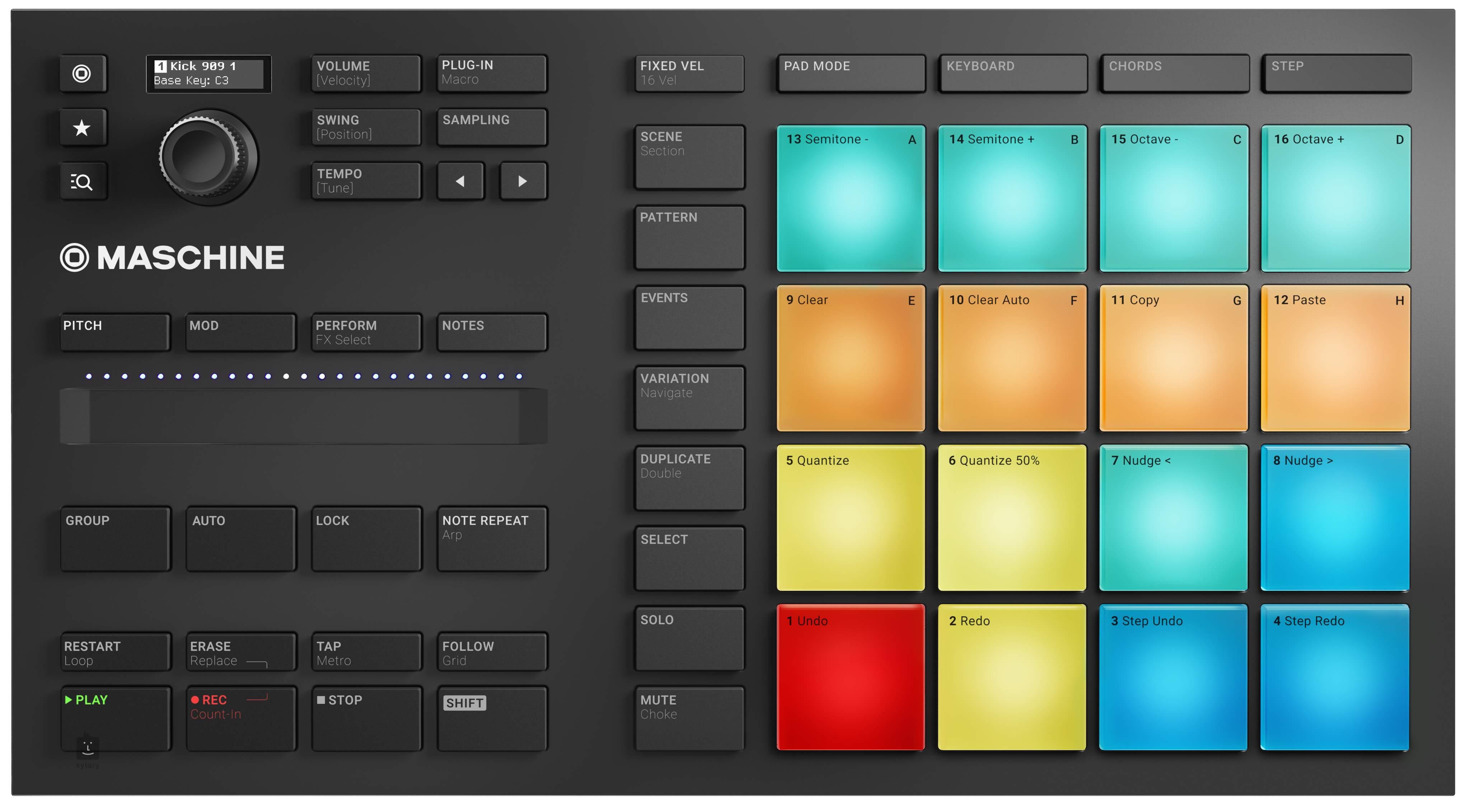 NATIVE INSTRUMENTS Maschine Mikro MK3 MIDI controller, groove software