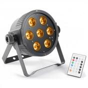 LED FlatPAR 7x15W RGBAW IR, DMX