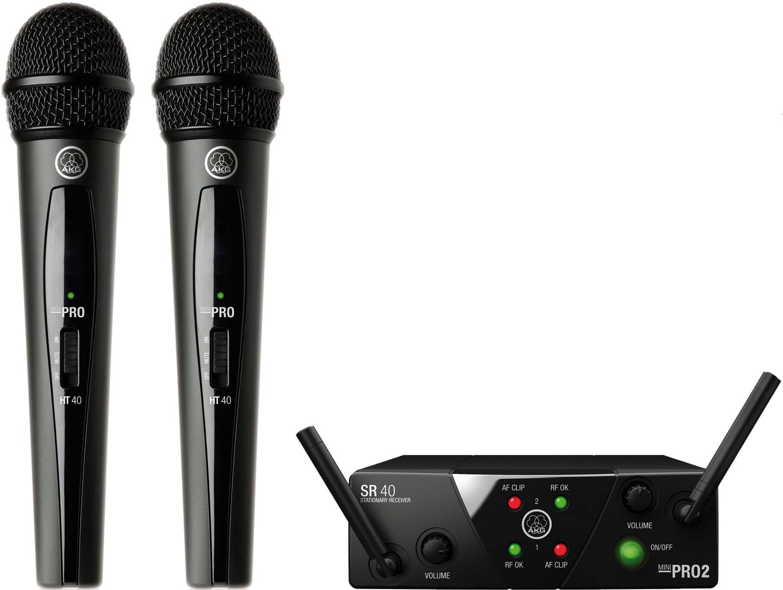 AKG WMS40 Mini2 VocalL Set Dual US45A/C