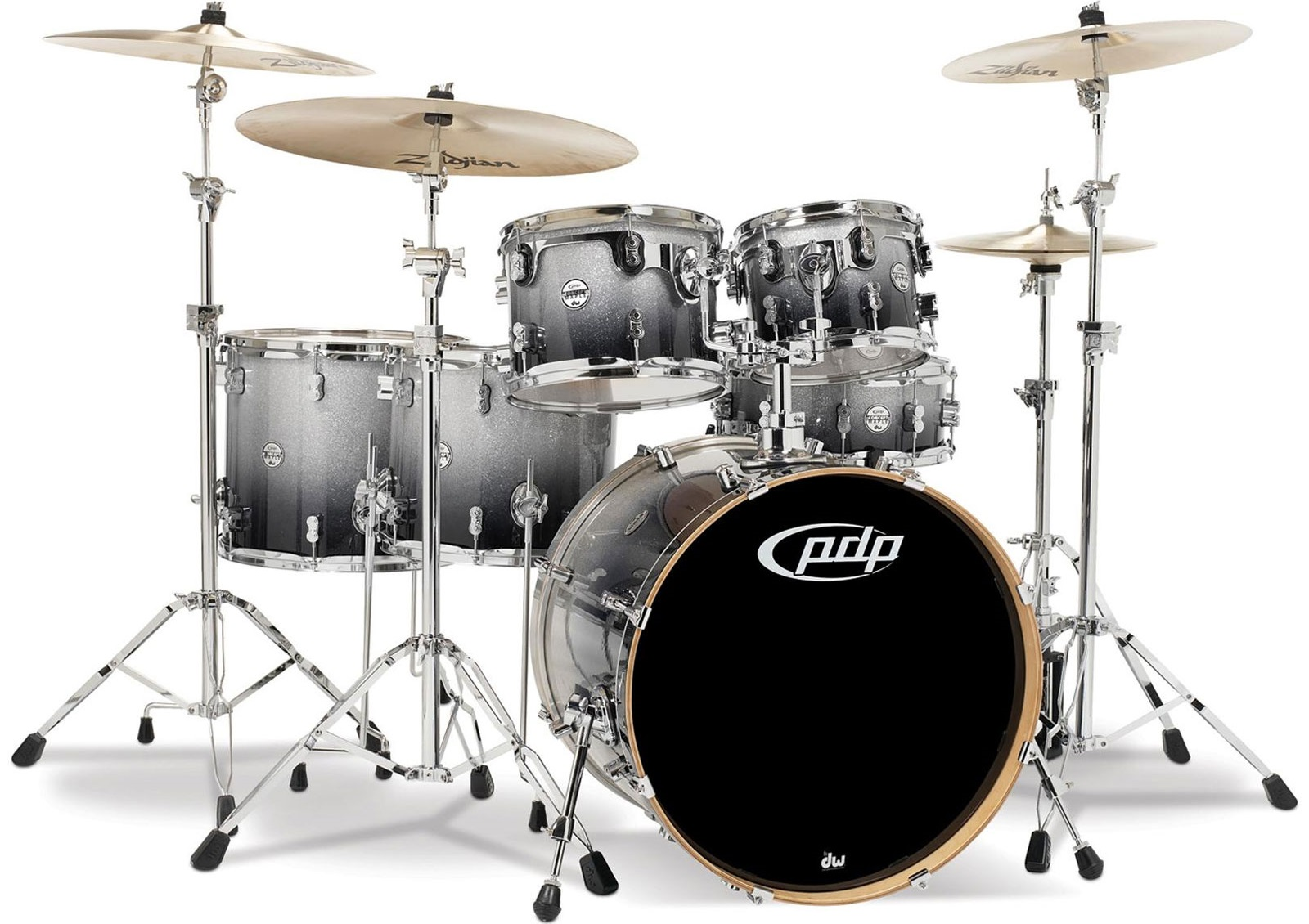 PDP Concept Maple CM6 Silver to Black Fade
