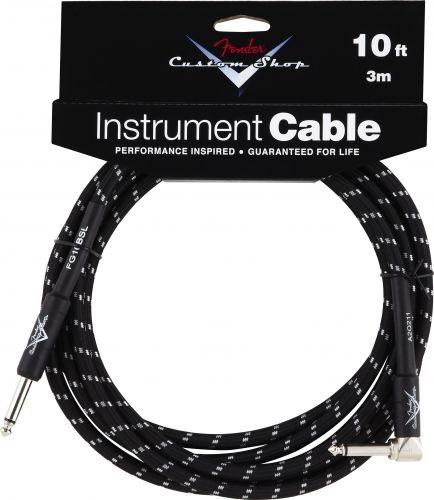 Fender Custom Shop Cable 10' Black Tweed Angled