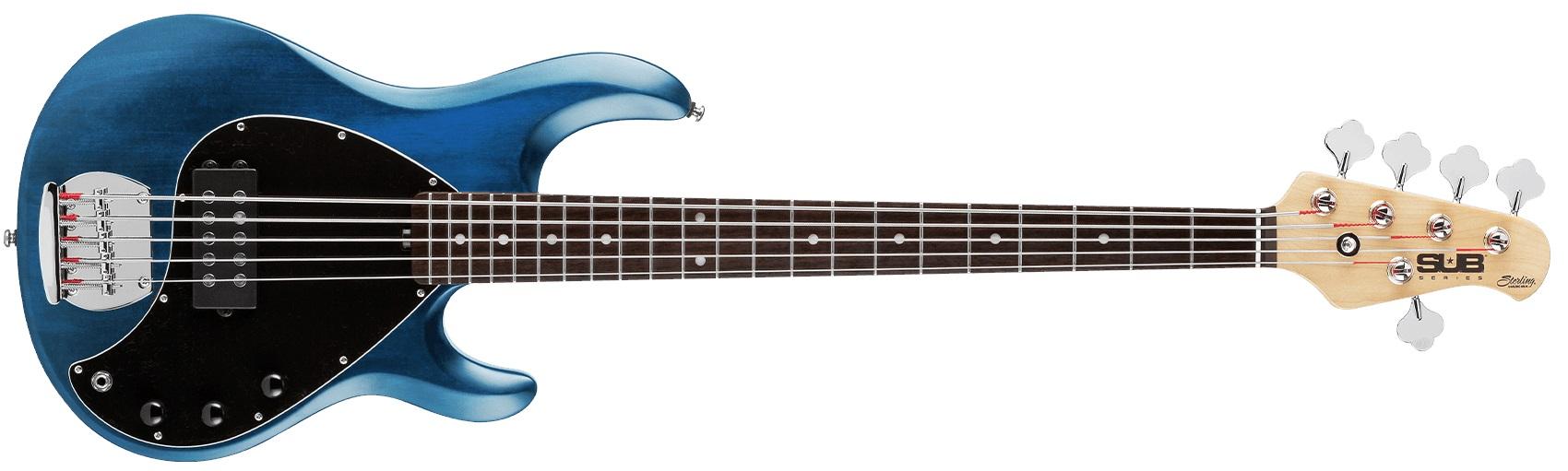 Sterling by Music Man SUB StingRay5 Trans Blue Satin