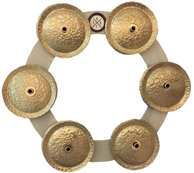 Big Fat Snare Drum Bling Ring-White-Copper