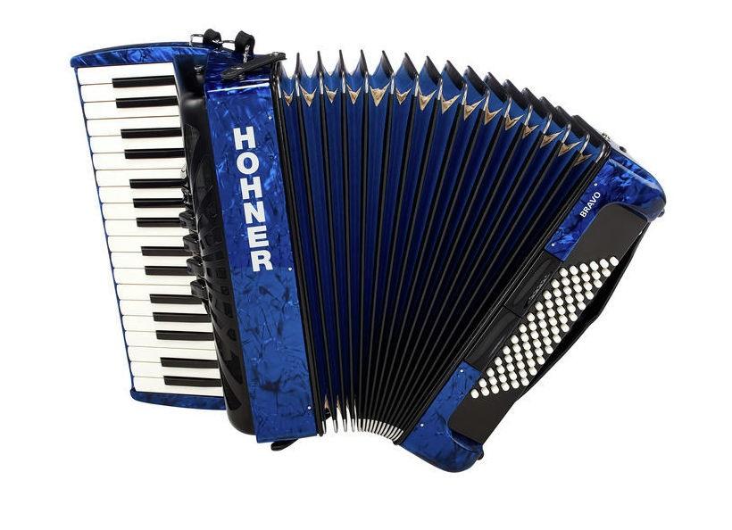 Hohner Bravo III 72 dark blue (SilentKey)