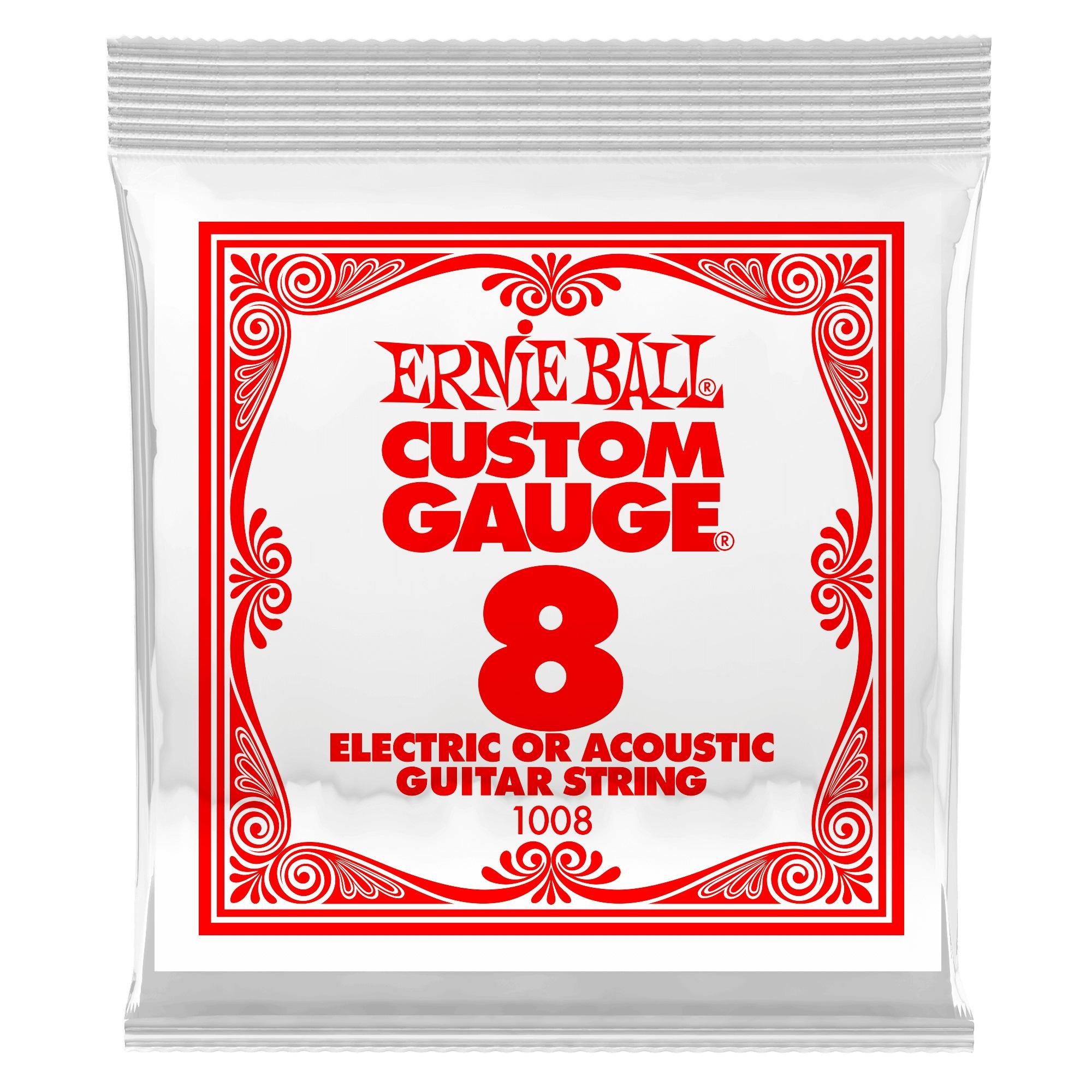 Ernie Ball Plain Steel Single .008