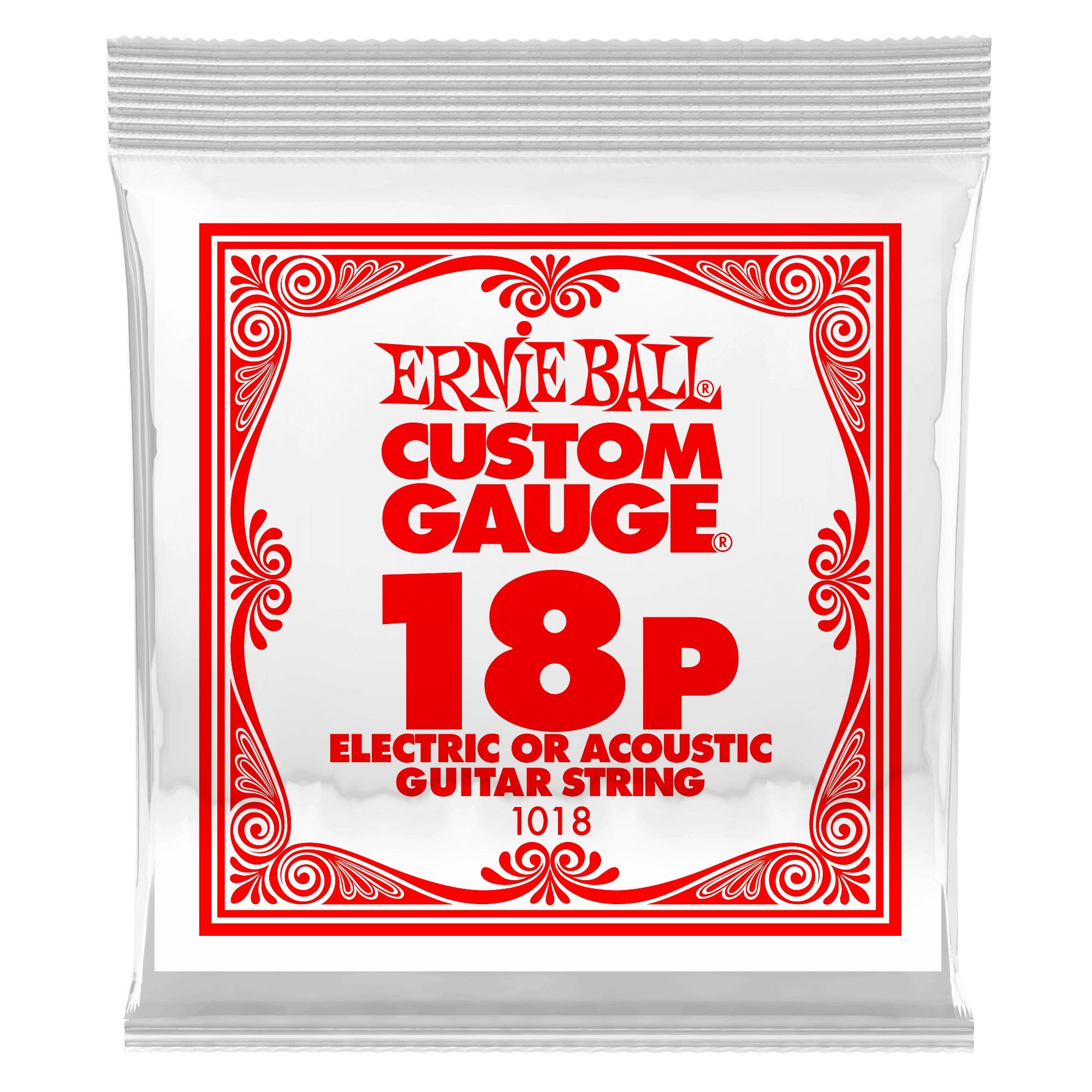 Ernie Ball Plain Steel Single .018