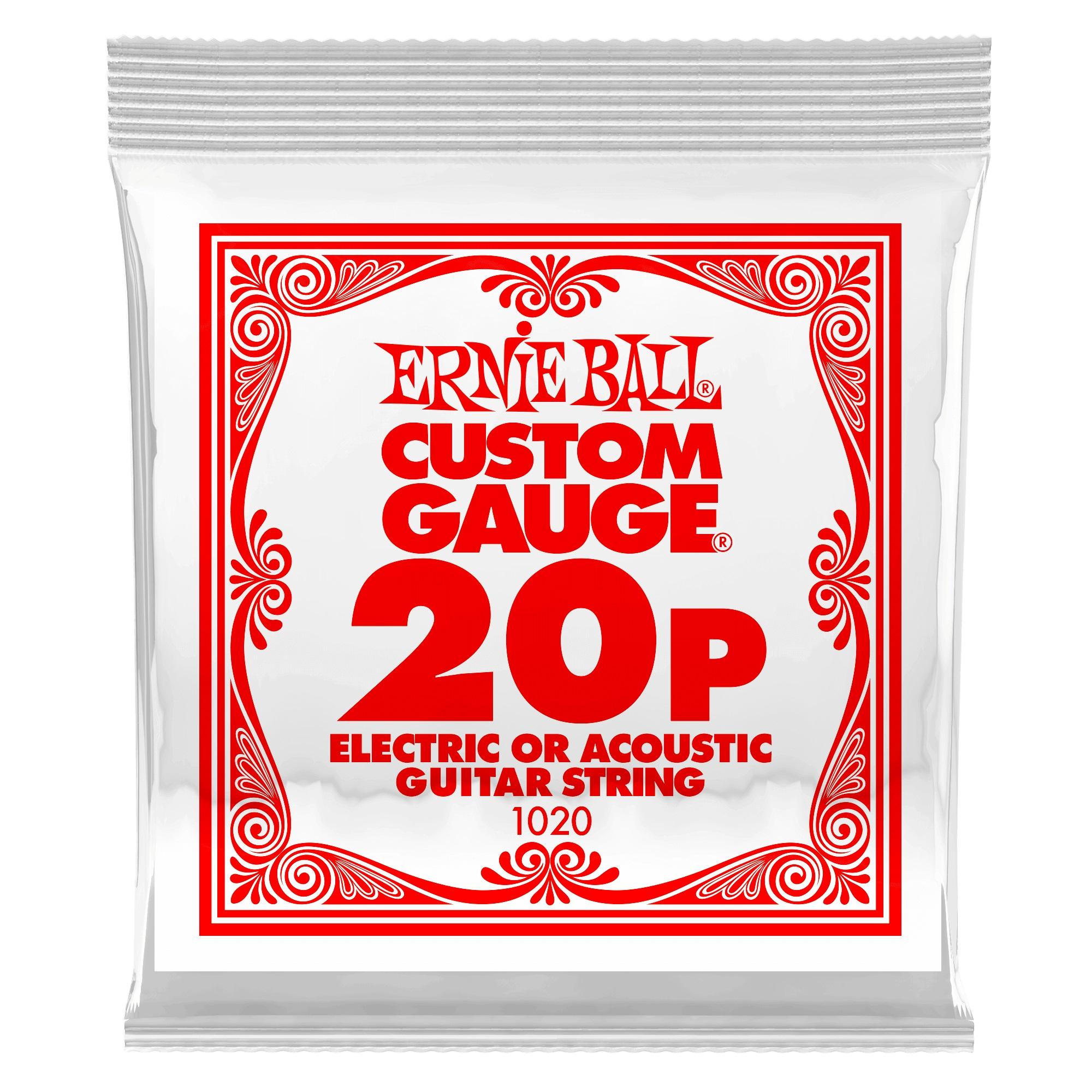 Ernie Ball Plain Steel Single .020