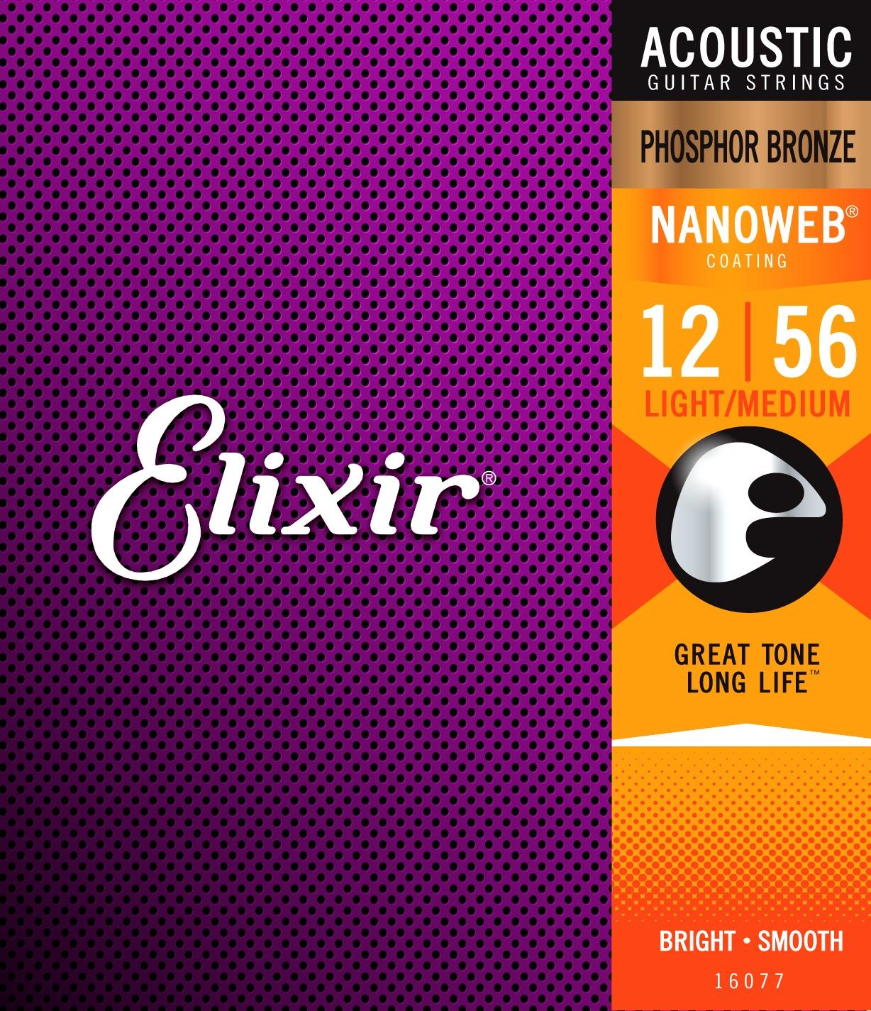 Elixir Nanoweb Phosphor Bronze Light-Medium