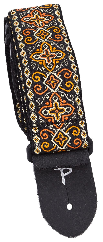 Perri's Leathers 6726 Jacquard Orange Black Cross