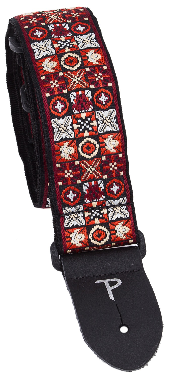 Perri's Leathers 7007 Jacquard Red Black White X
