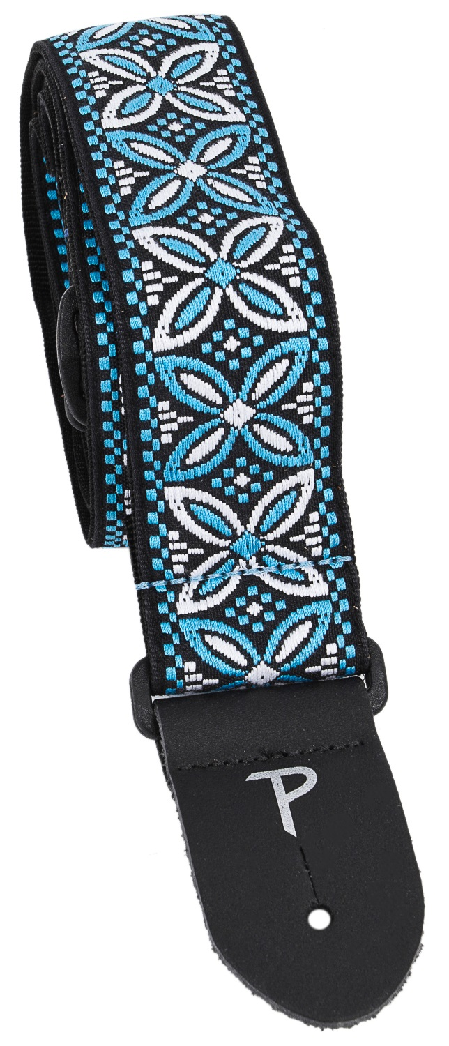 Perri's Leathers 7031 Jacquard Blue And White Wild Flower