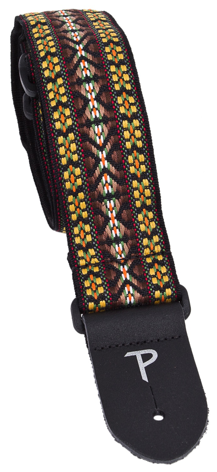 Perri's Leathers 7034 Jacquard Brown And Yellow Hootenanny
