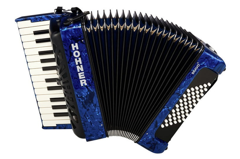 Hohner Bravo II 48 Blue Silent Key