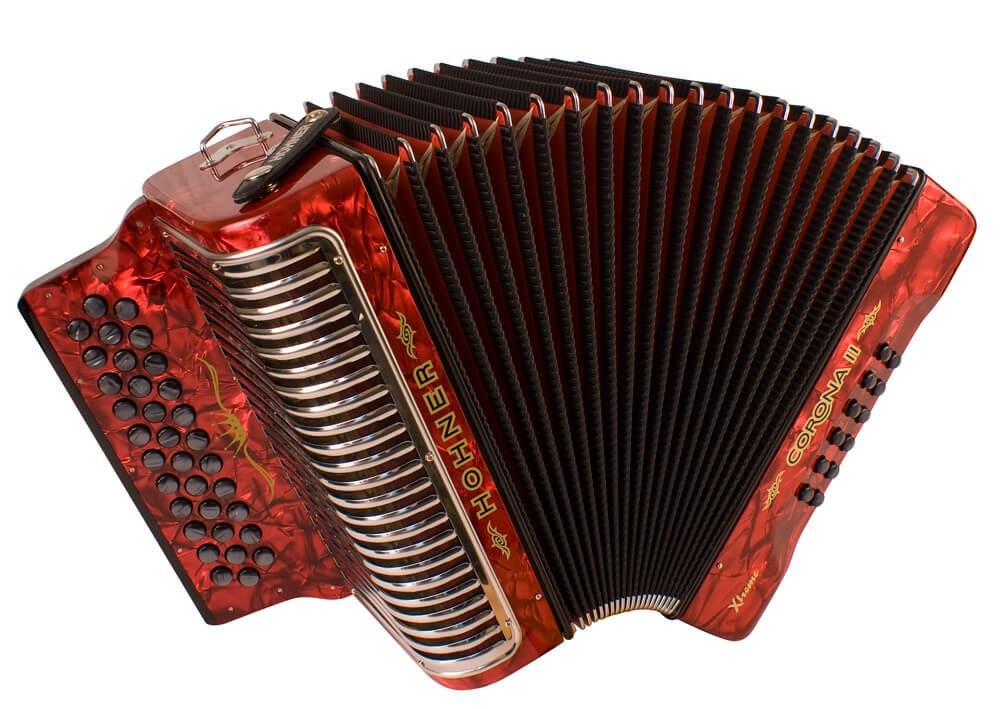 Hohner Corona II XTREME EAD, red
