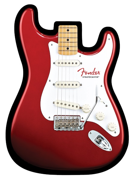 Fender Stratocaster Mouse Pad Red