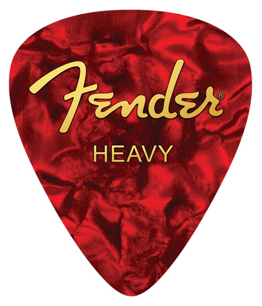 Fender Heavy Pick Mouse Pad Red
