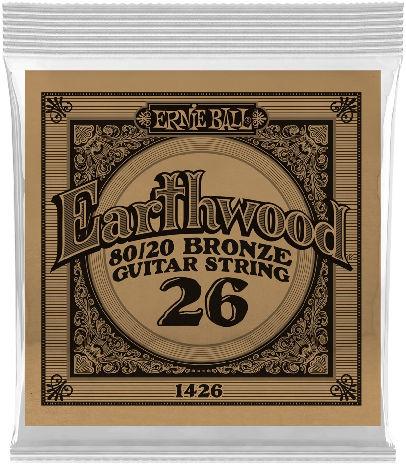 Ernie Ball Earthwood 80/20 Bronze Single .026