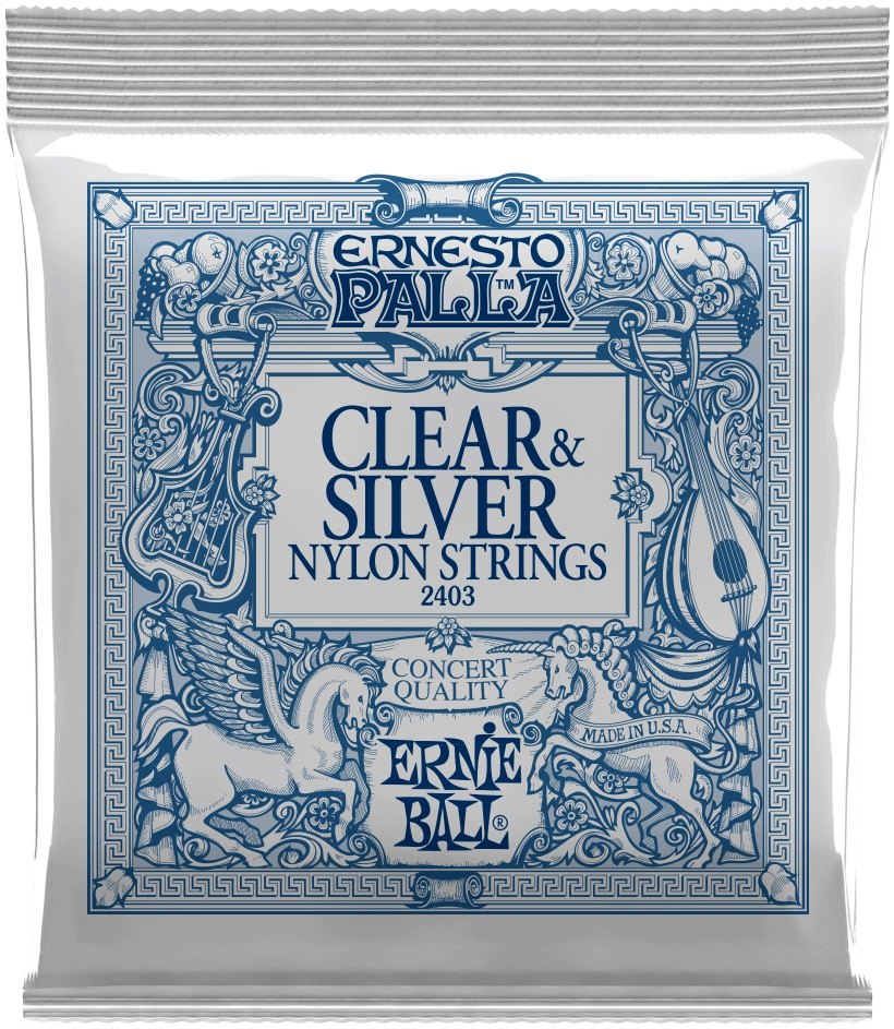 Ernie Ball Ernesto Palla Clear & Silver