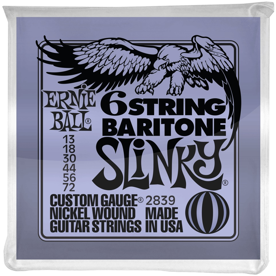 Ernie Ball Nickel Wound 6-String Baritone Slinky