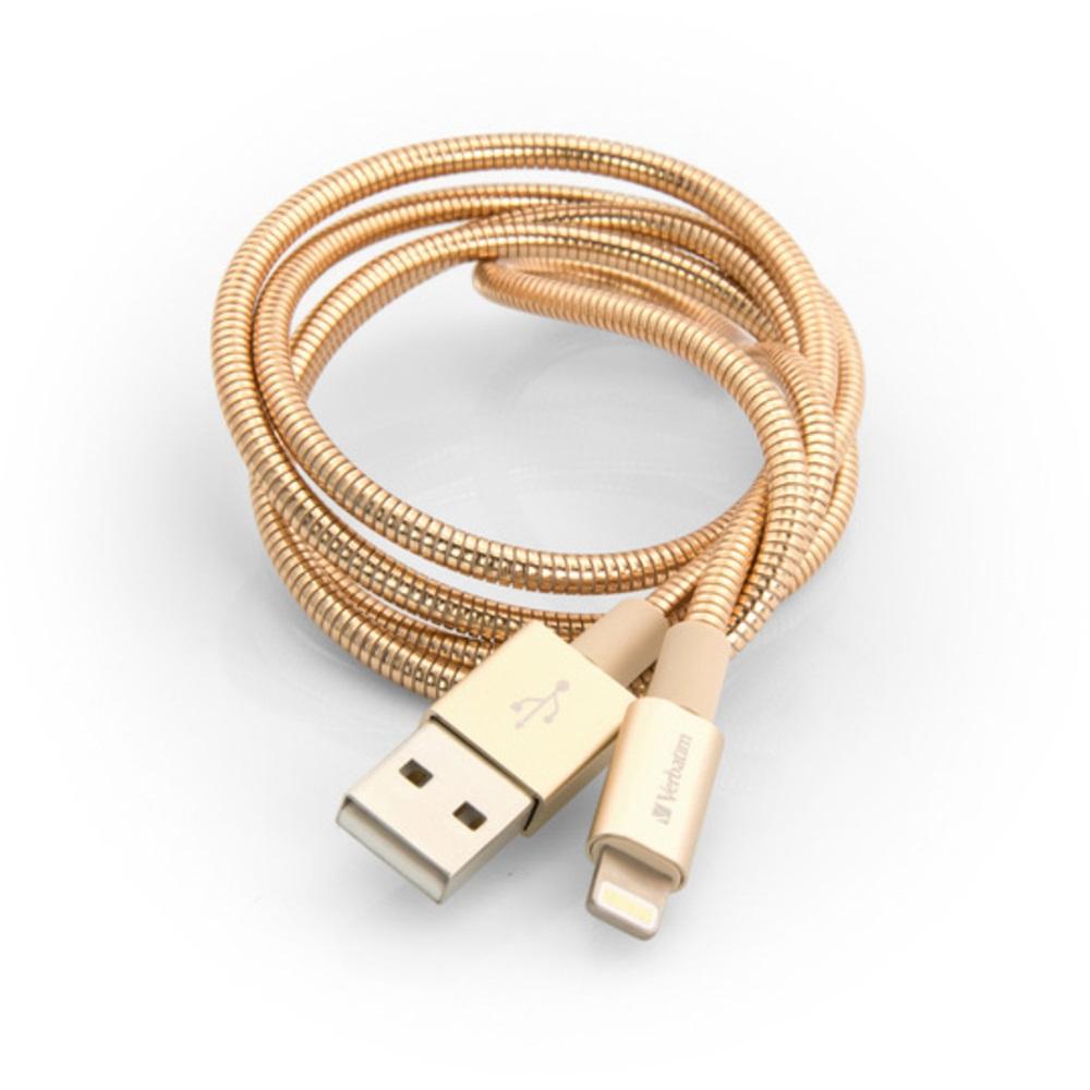 Verbatim Lightning kabel 1m S&CH gold