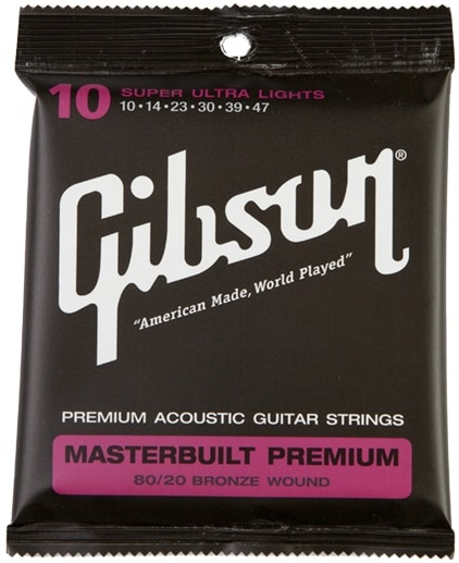 Gibson Masterbuilt Premium 80/20 Bronze Super Ultra Lights