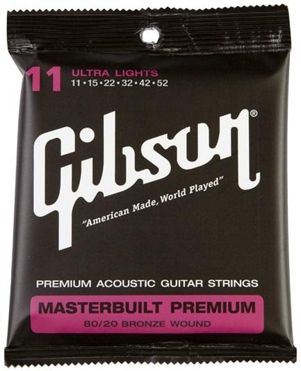 Gibson Masterbuilt Premium 80/20 Bronze Ultra Lights