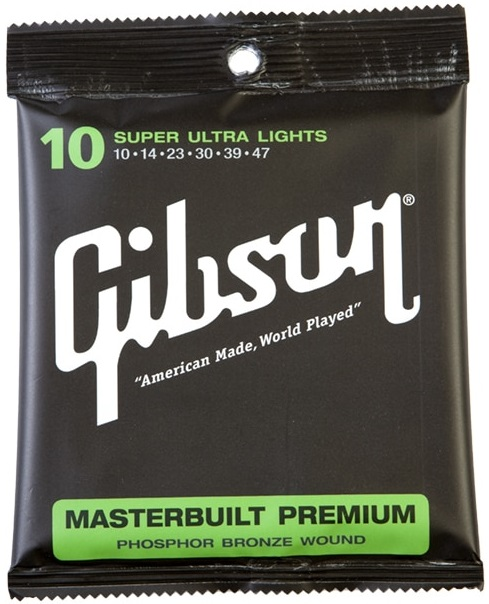 Gibson Masterbuilt Premium Phosphor Bronze Super Ultra Lights