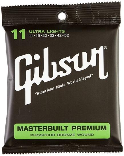 Gibson Masterbuilt Premium Phosphor Bronze Ultra Lights