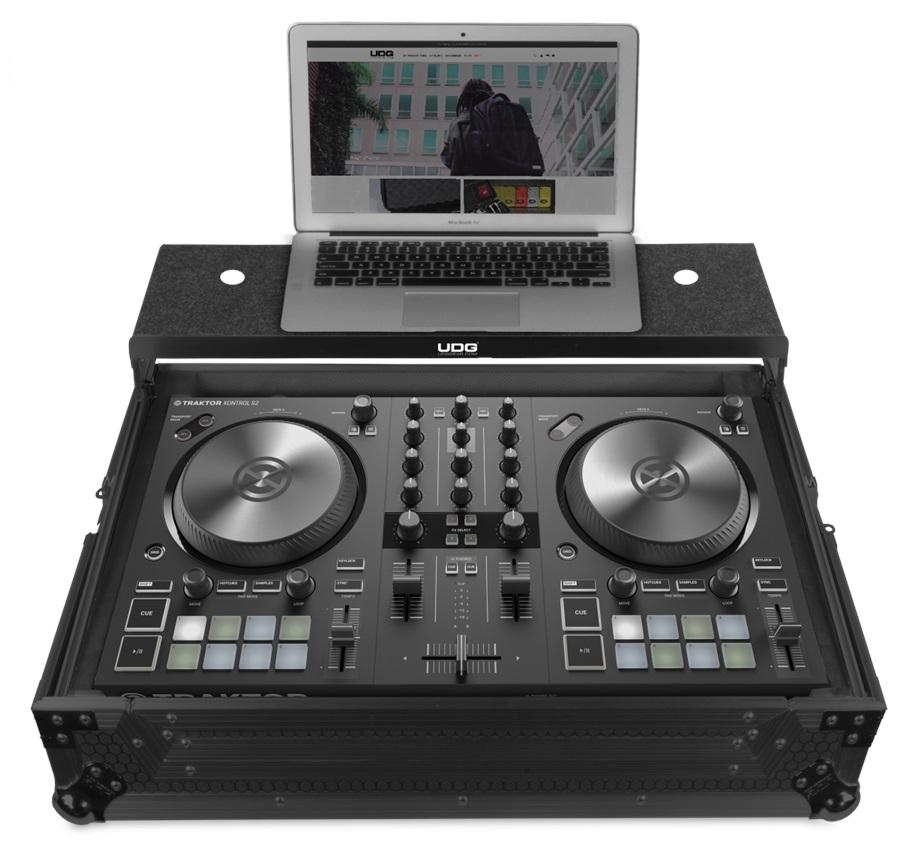 UDG Ultimate Flight Case NI Kontrol S2 MK3 Black Plus (Laptop shelf)