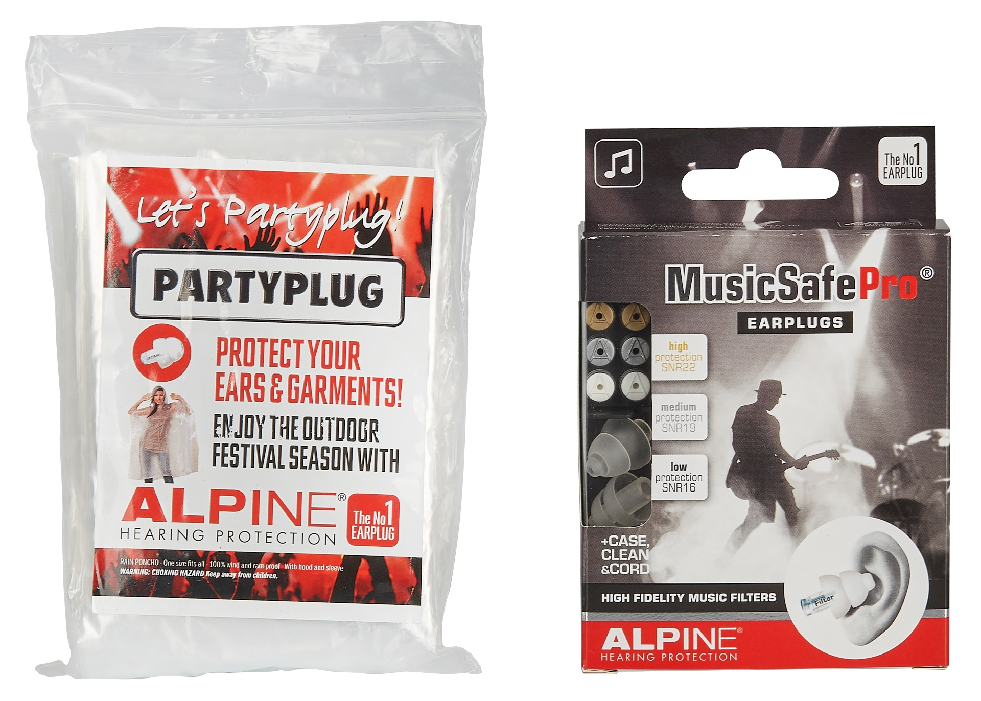 Alpine MusicSafe Pro Transparent + Raincoat
