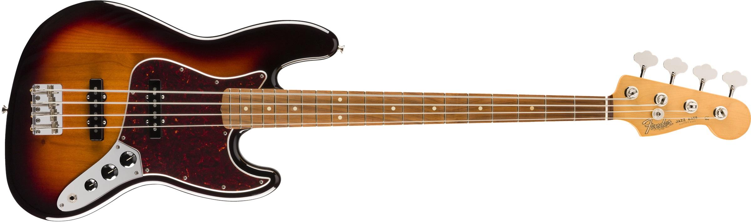 Fender Vintera '60s Jazz Bass®, Pau Ferro Fingerboard, 3-Color Sunburst