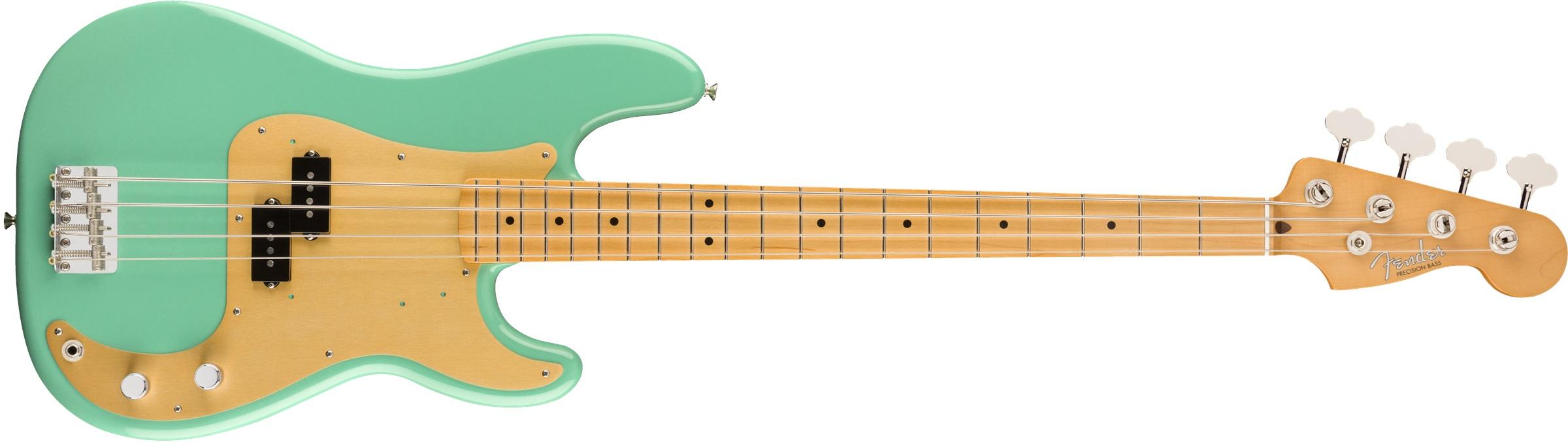 Fender Vintera '50s Precision Bass®, Maple Fingerboard, Sea Foam Green