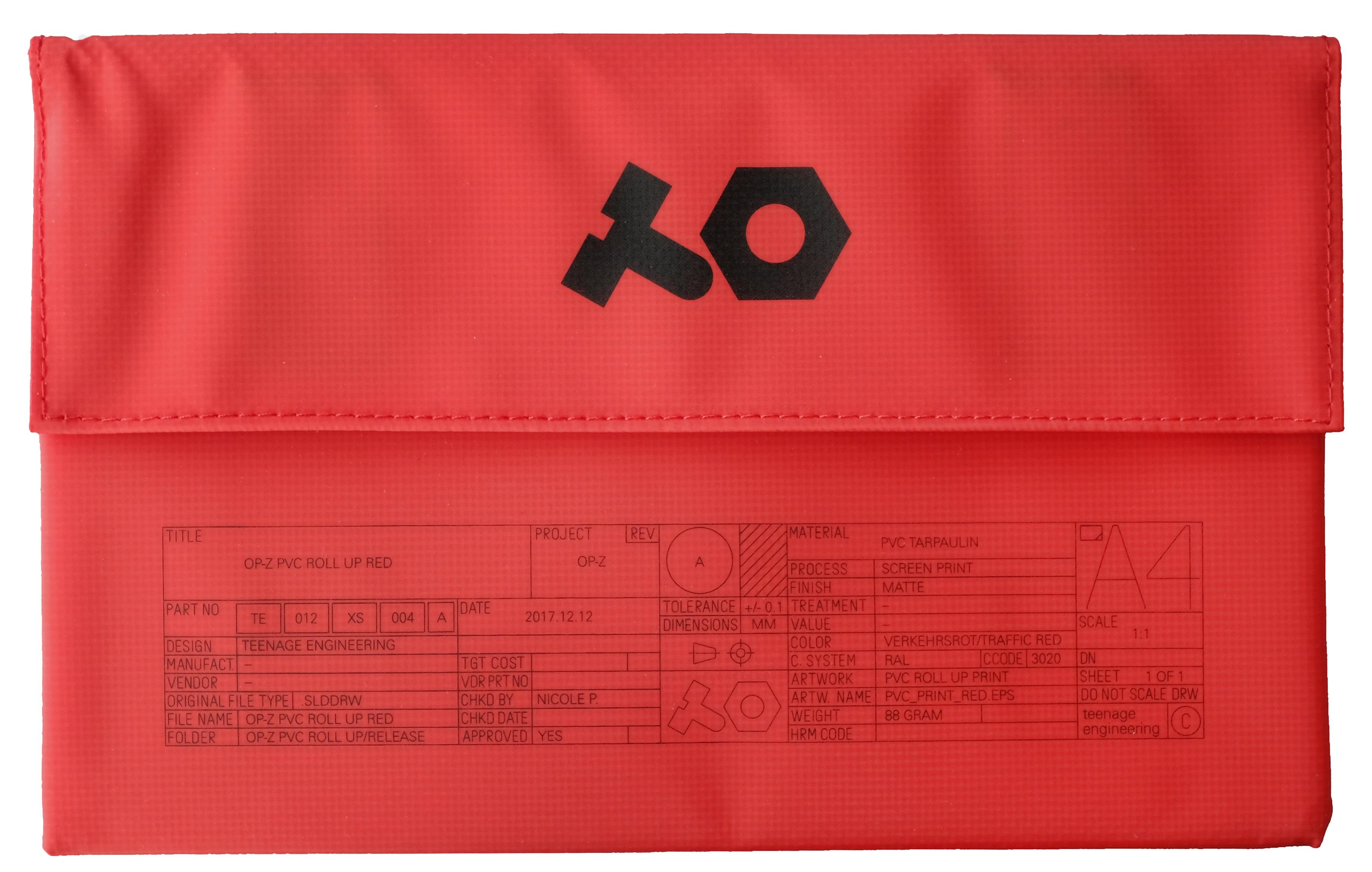 Teenage Engineering OP-Z PVC Roll Up Red