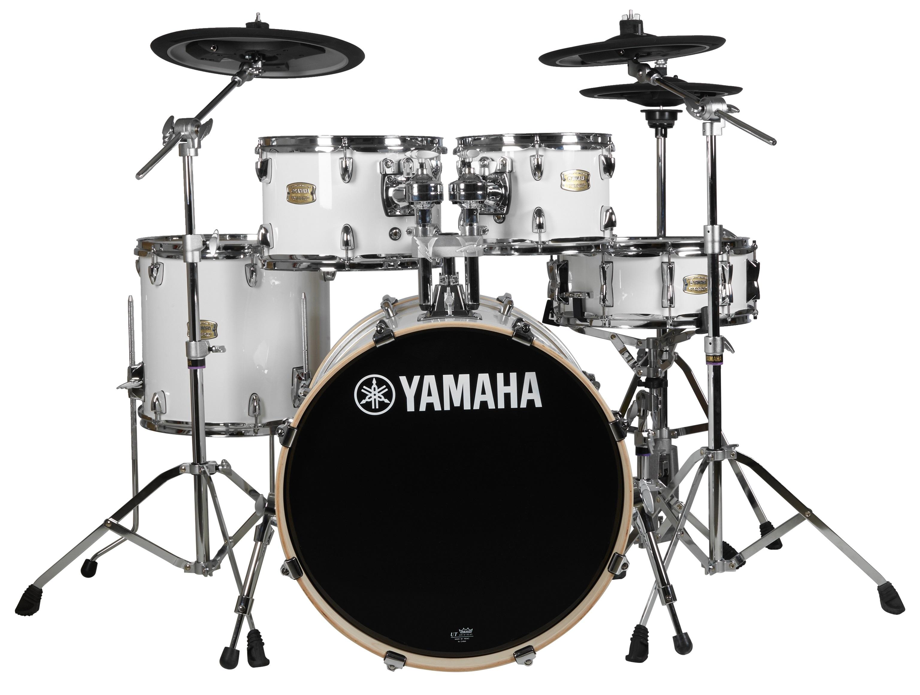 Yamaha Hybrid Stage Custom studio set Pure White