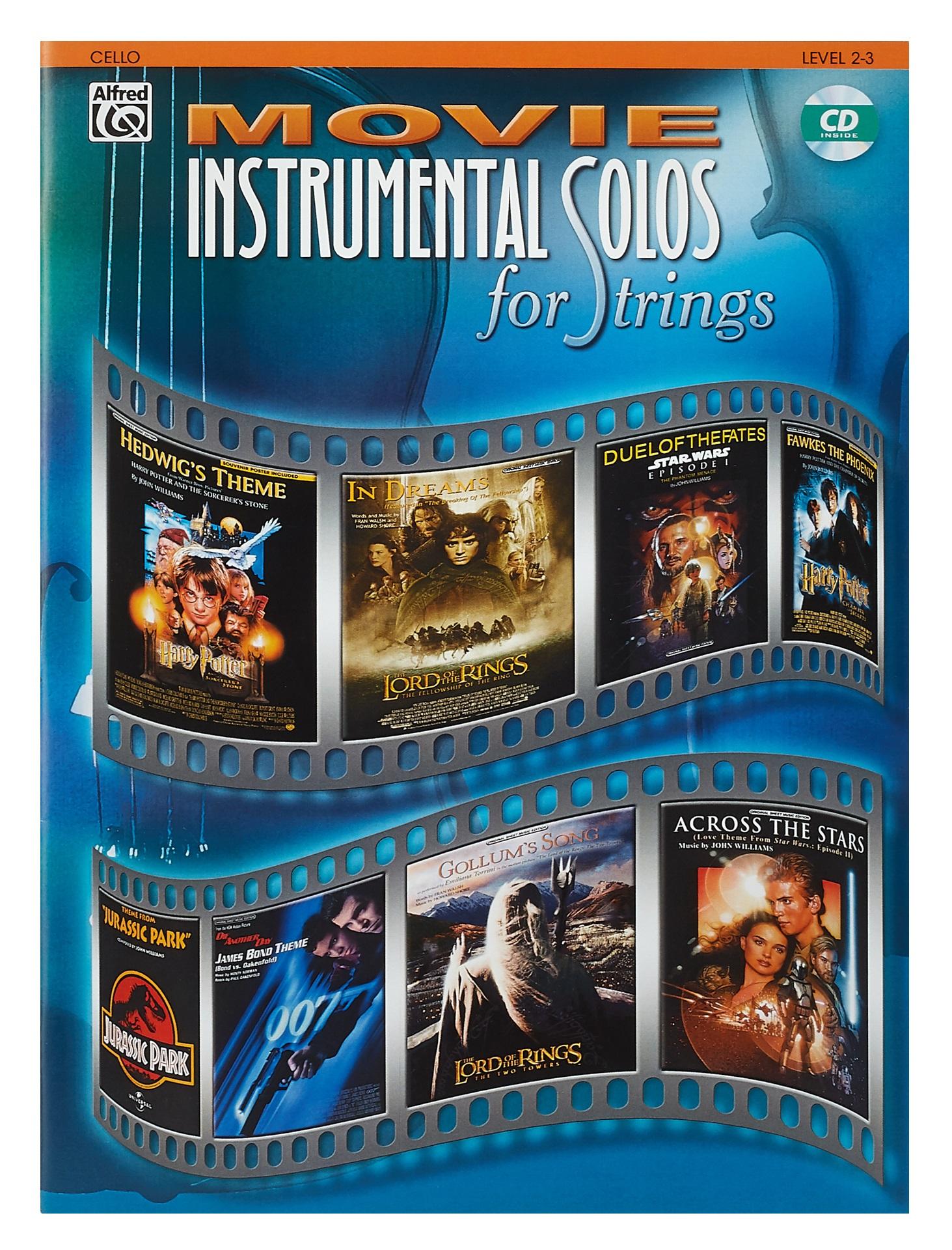 MS Movie Instrumental Solos, Cello Level 2-3 Book/CD