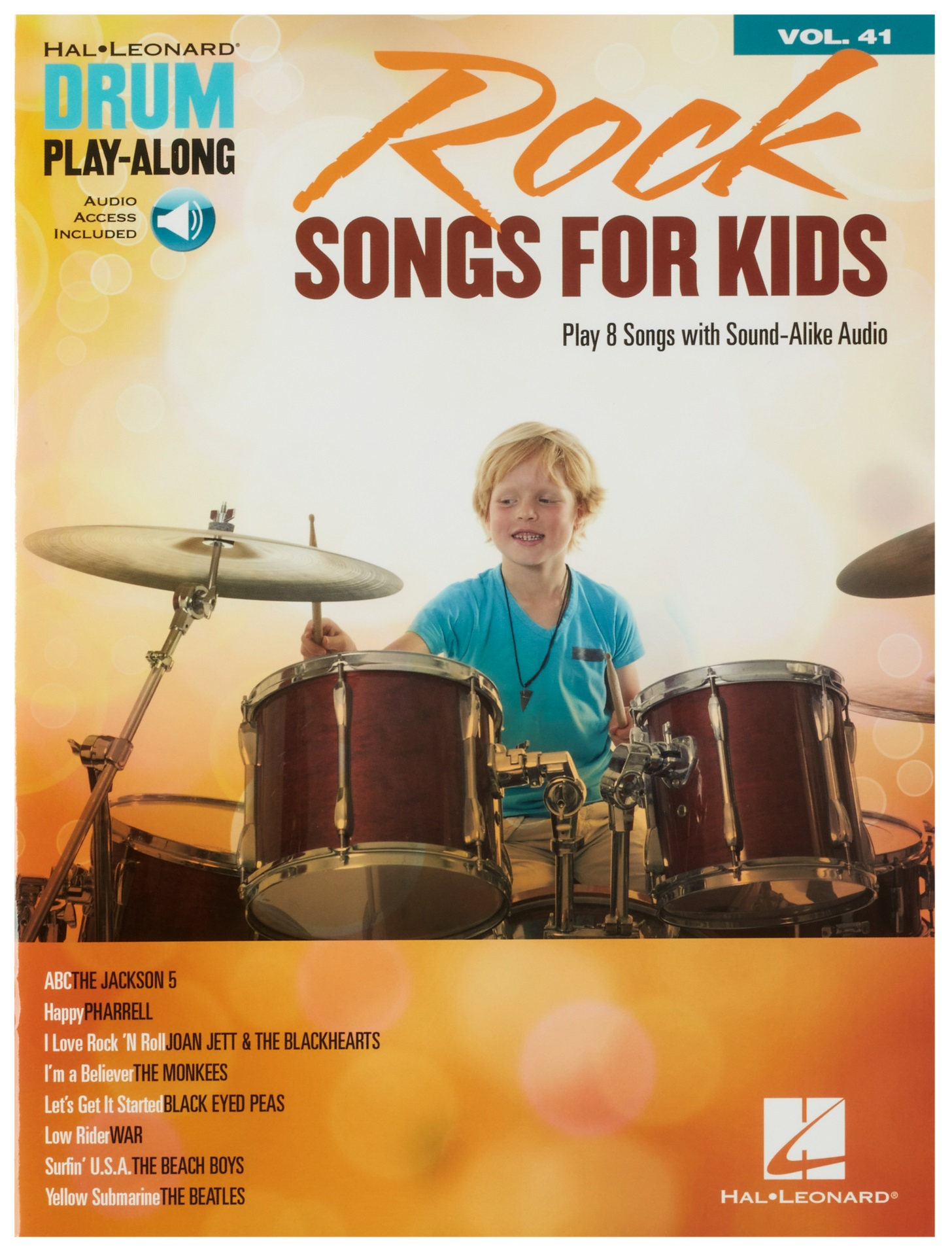 MS Drum Play-Along Volume 41: Rock Songs For Kids