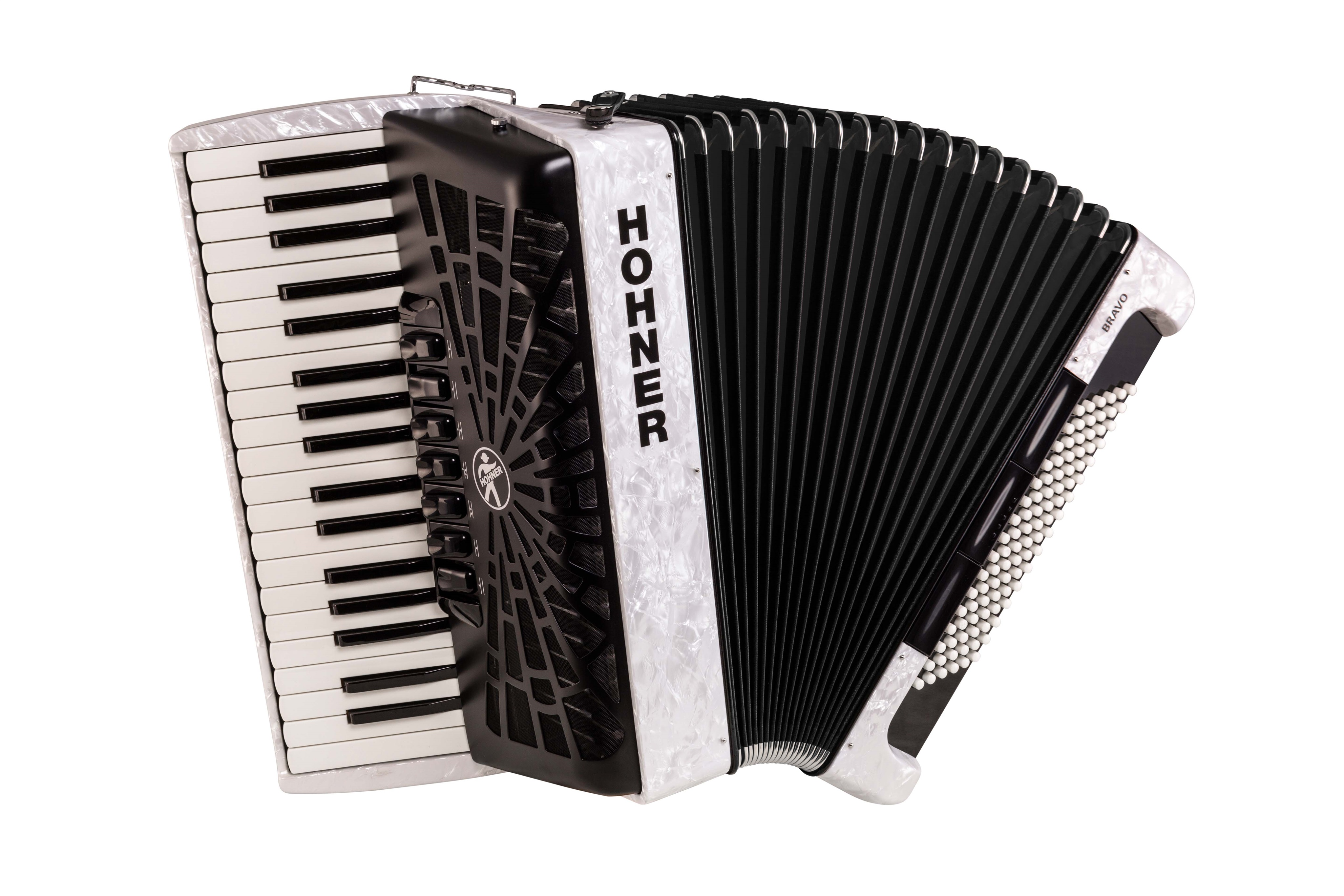 Hohner Bravo III 96 white (SilentKey)